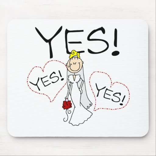 Bride Says Yes Mouse Mats