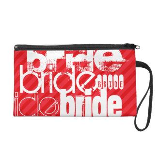 Bride; Scarlet Red Stripes Wristlet Purses