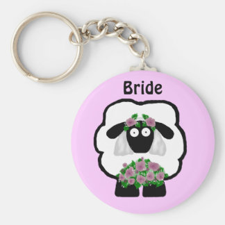 Bride Sheep Keychain