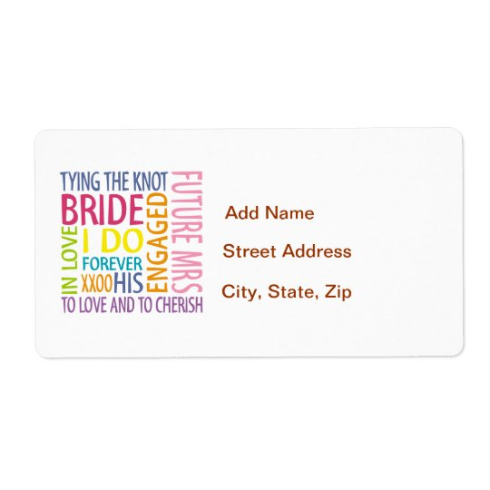 Bride Shipping Label