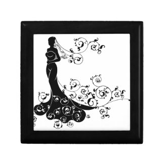 Bride Silhouette Wedding Abstract Gift Box