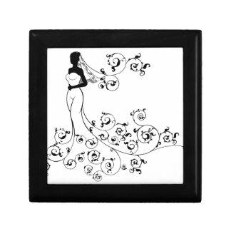 Bride Silhouette Wedding Concept Gift Box