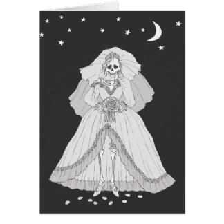 Bride Skeleton Card