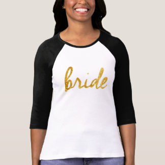 Bride Sporty Tee Gold Foil