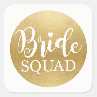 Bride Squad Bridal Shower Stickers Gold Bridal