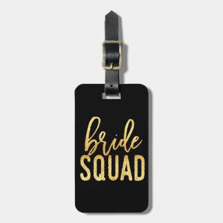 Bride Squad Gold Bag Tag