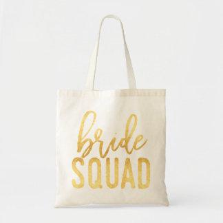 Bride Squad Gold Tote Bag