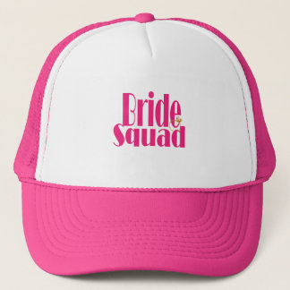bride-squad-gold trucker hat