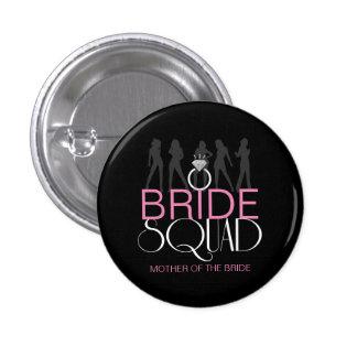 Bride Squad Silhouettes White on Dark  ID252 3 Cm Round Badge