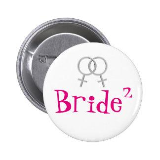 Bride Squared Lesbian Wedding Pin