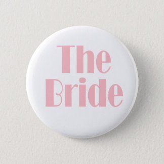 Bride Swag Baby Pink 6 Cm Round Badge