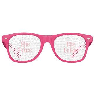 Bride Swag Baby Pink Retro Sunglasses