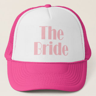 Bride Swag Baby Pink Trucker Hat