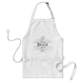 Bride Swirls Standard Apron