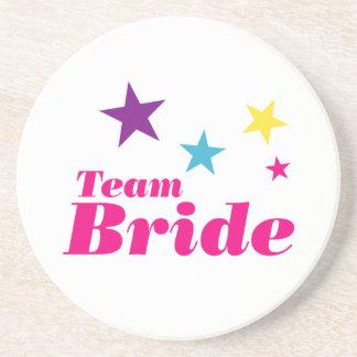 Bride team beverage coaster