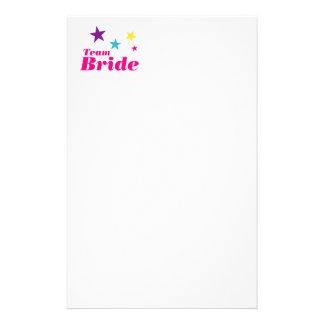 Bride team customized stationery
