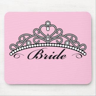 Bride Tiara Mousepad (pink background)