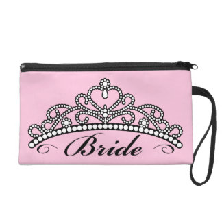 Bride Tiara Wristlet (pink background)