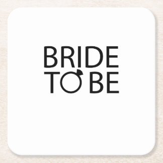 Bride to be Bridesmaid bride bachelorette party Square Paper Coaster
