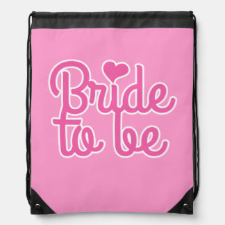 Bride to Be Drawstring Bag