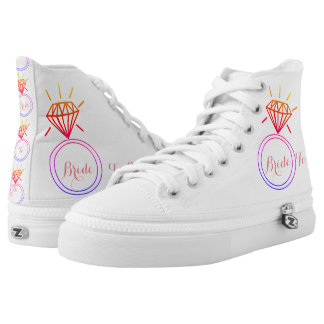 Bride To Be High Top Shoes