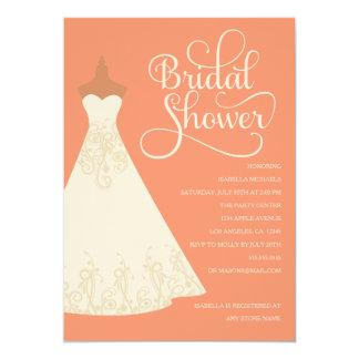 Bride To Be - Med. Skin | Choose Background Color 13 Cm X 18 Cm Invitation Card