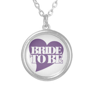 Bride to BE Round Pendant Necklace