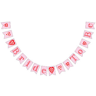 BRIDE TO BE, Pink Bridal Shower Decoration Bunting