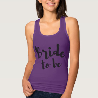 Bride to Be Purple Tank Top