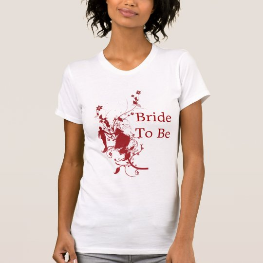 Bride To Be Red and white Hens Night Shirt