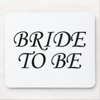 Bride To Be Script Black Mouse Pad