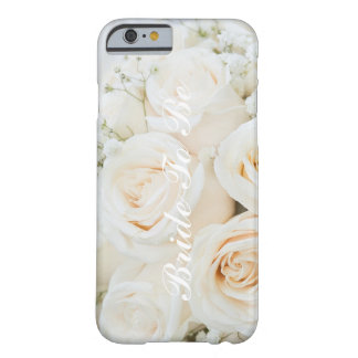 Bride To Be White Roses iPhone Case