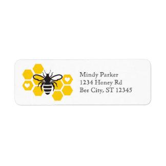 Bride to Bee Bridal Shower Address Label
