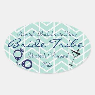 Bride Tribe Bachelorette Party Oval Sticker