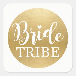 Bride Tribe Bridal Shower Stickers Gold Bridal