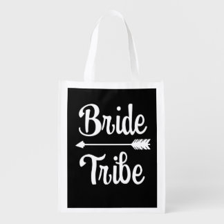 Bride Tribe Bridesmaid bag black and white