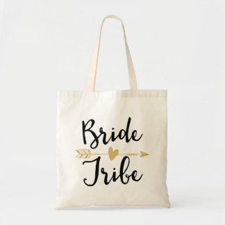 """Bride Tribe"" Bridesmaid Black and Golden"