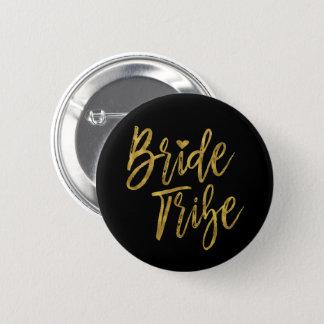 Bride Tribe Faux Gold Foil Bachelorette Party 6 Cm Round Badge