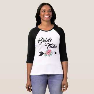 Bride Tribe Floral Arrow T-Shirt