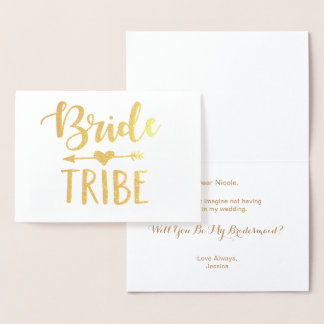 Bride Tribe Foil Card |  Will You Be My Bridesmaid