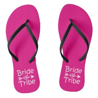 Bride Tribe funny Bridesmaids flip flops