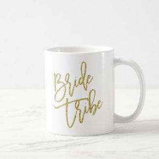 Bride Tribe Gold Glitter Script Basic White Mug