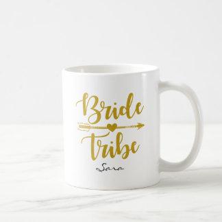 Bride Tribe Gold Wedding Custom Coffee Mug