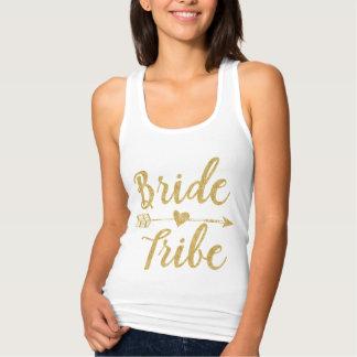 Bride Tribe | Golden Glitter-Print Singlet