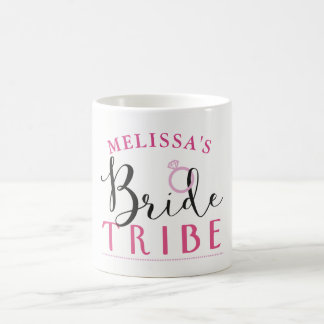 Bride Tribe Hen Party Bridal Cup Gold Floral Mrs