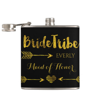 Bride Tribe Hip Flask