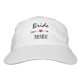Bride Tribe Red Heart Arrow Hat