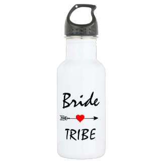Bride Tribe Red Heart Arrow White 532 Ml Water Bottle