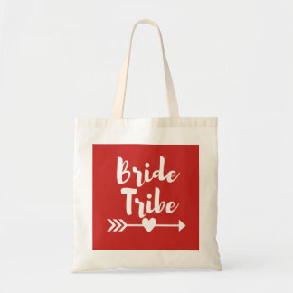 Bride Tribe Tote Bag with Arrow Heart Design