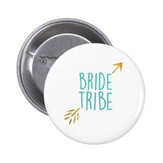 {Bride Tribe} Turquoise & Gold 6 Cm Round Badge